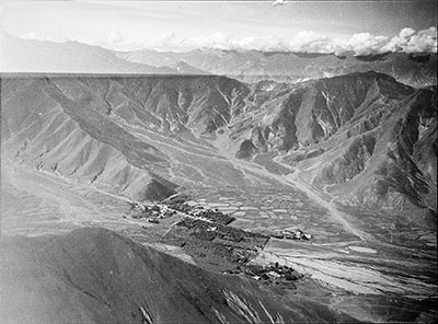 Aerial view of Dekyi Lingka, Lhasa Valley