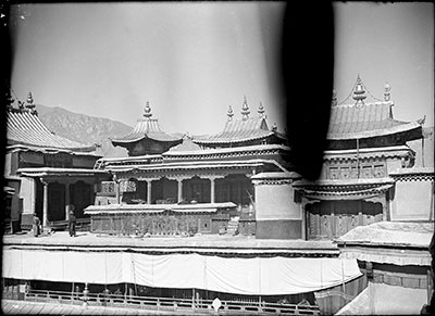 Roof of the Potala Palace showing tombs of Dalai Lamas