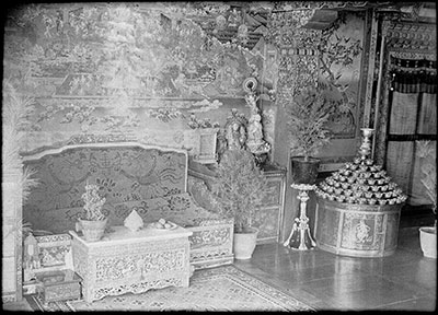 Dalai Lama's reception room in the Norbu Lingka