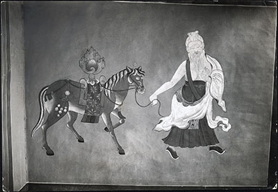 Painting in Norbu Lingka stables