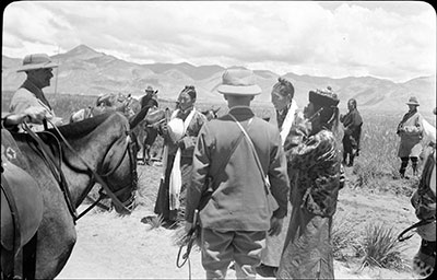Gould and the Mission being received outside Gyantse