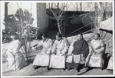 Four Cabinet Officials with Tsarong