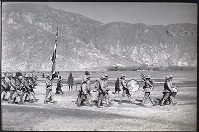 Lhasa military band and colours