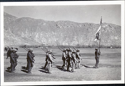 Lhasa rifle brigade with standard