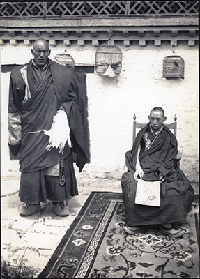 Reting Rinpoche and monk attendant