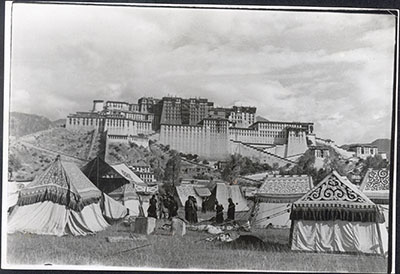 Appliqué tents in front of Potala