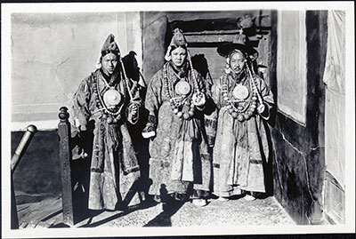 Officials wearing ringyen dress at New Year