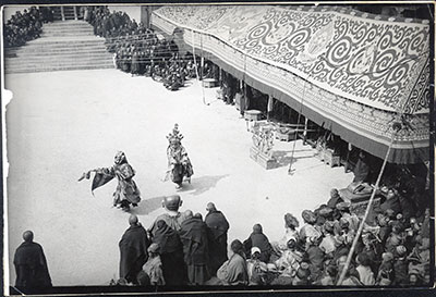 Masked dancers with Hashang at Tse Gutor
