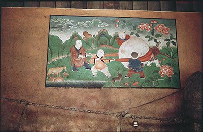 Painting in stables of Norbu Lingka