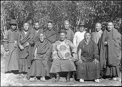 Mongolian Minister and monks