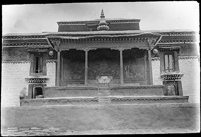 Dalai Lama's dais outside the Jokhang in Lhasa