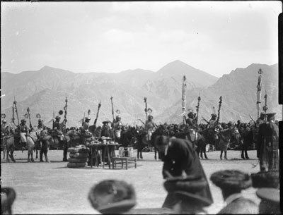 Old time cavalry at Trapshi Tsisher, Lhasa