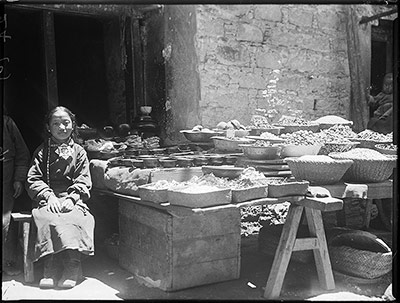 Stall selling foodstuffs in Lhasa