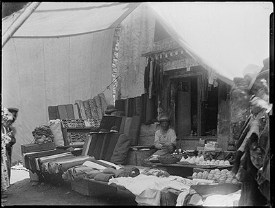 Textile and ceramics shop in Lhasa