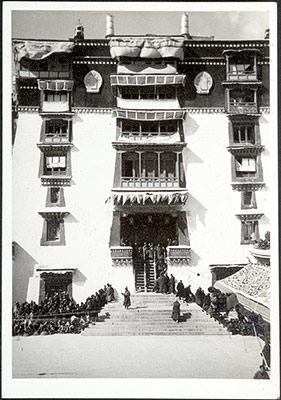 Eastern courtyard of the Potala during Gutor