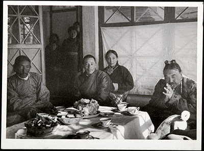 Taking tea at the Doring house in Gyantse