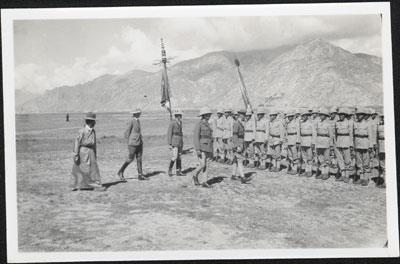 Inspecting the Tibetan Troops at Military Review