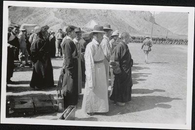Tibetan officials at Military Review at Trapshi