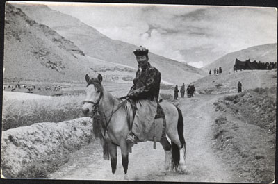 Norbhu on horseback near Khangmar