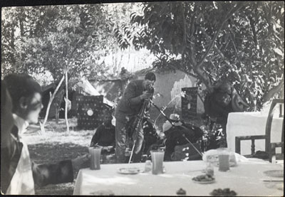 Frederick Spencer Chapman films a Mission party