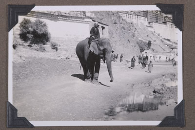 13th Dalai Lama's elephant outside Potala