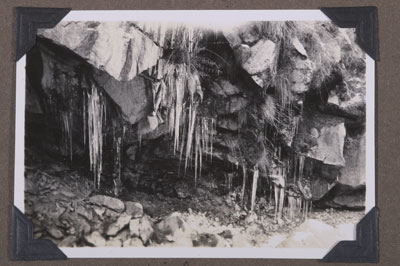 Icicles in a cave near Lhasa