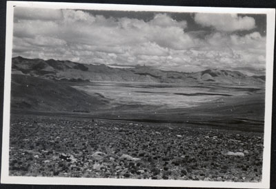 View of the valley around Gyantse
