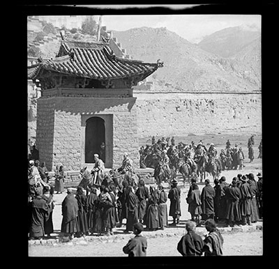 Rehearsal of procession  below Potala