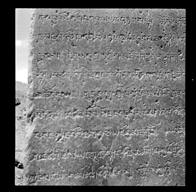 Part of inscription pillar at Karcung near Ramagang