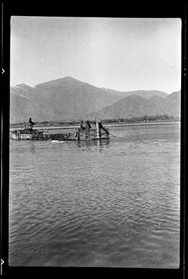Ferry crossing at Chaksam across the Tsangpo river