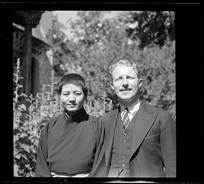Kay Phunkhang and Captain O'Malley in a garden