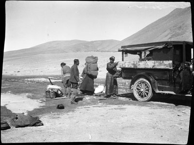 The Agency car with a puncture near Dochen