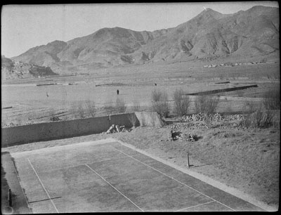 Tennis court from Gyantse Fort