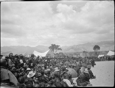 Crowds at Gyantse Gun and Arrow competition
