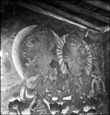 Frescoes in Sakya monastery
