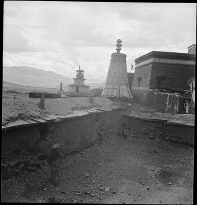View from roof of Sakya Monastery