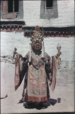 Masked dancer at Palkhor Chode monastery in Gyantse