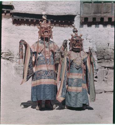 Masked dancers at Palkhor Chode monastery in Gyantse