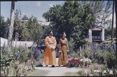 Ngapo and Sumdowa in the grounds of Dekyi Lingka
