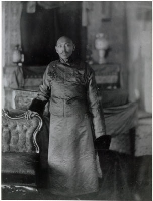 Reproduction of photograph of 13th Dalai Lama