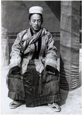 Lhawang Tobgyal Surkhang in gyaluche dress